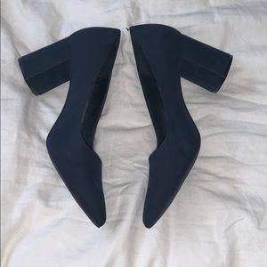 Kelly and Katie size 10 Navy suede heels